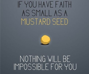 faith and mustard seed image