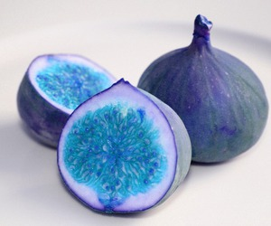 blue, fruit, and fig image