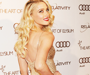 amber heard, blonde, and pretty image