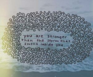 quote, storm, and strong image