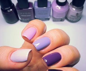 color, nails, and purple image