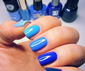 blue, color, and nails image