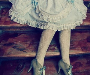 dress, pastel, and sweet image
