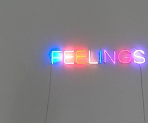 feelings, neon, and light image