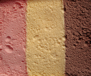 ice cream, strawberry, and vanilla image