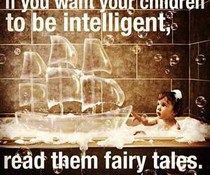 einstein, fairy tales, and quote image