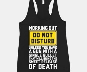 bullet, workout, and donotdisturb image