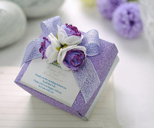 country wedding, purple, and ribbon image
