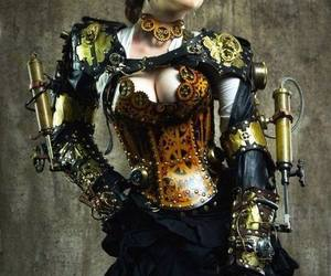 steampunk, steampunk fashion, and victorian image