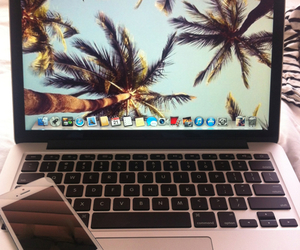 iphone, love, and macbook image