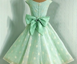 1950, bow, and dress image