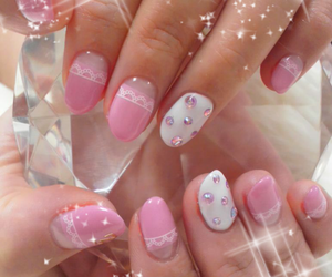 bow, cupcake, and nail polish image