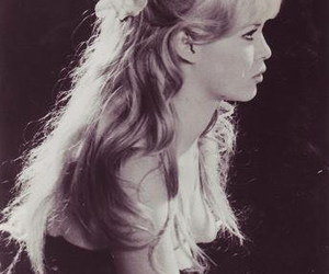 60s, hair, and black and white image