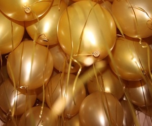 balloons, gold, and golden image