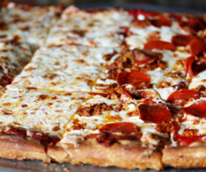food, pizza, and yum image