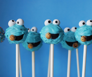 cookie monster, blue, and food image