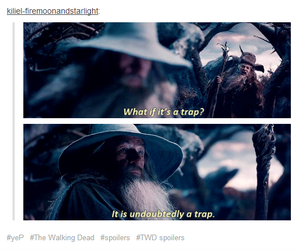 gandalf, trap, and the walking dead image