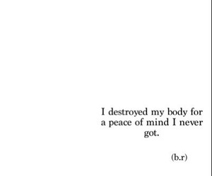 sad, quotes, and body image