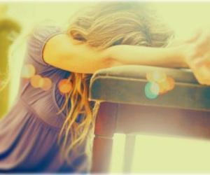 girl, sad, and light image