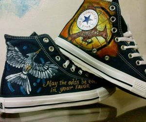 converse, shoes, and the hunger games image
