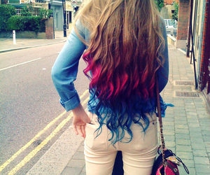 colours, fashion, and hair image