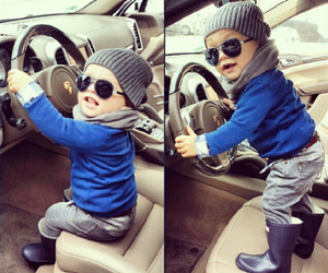 cute, baby, and car image