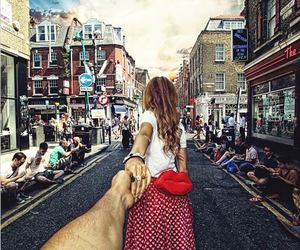 couple, london, and follow me image