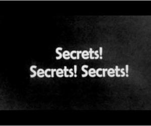 secret, text, and black and white image