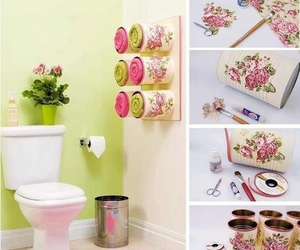 bathroom, diy, and cute image