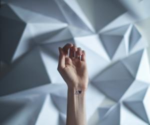tattoo, triangle, and hand image