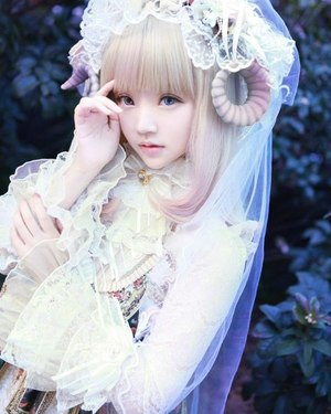asian girl, kawaii, and living doll image