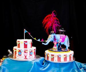 cake, circus, and wedding image
