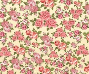 floral, pattern, and pink image