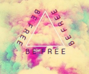 free, be free, and clouds image