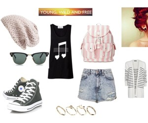 fashion, Polyvore, and red hair image