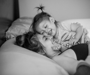 girl, gorgeous, and mother image