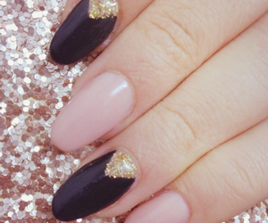 black, Nude, and glitter image