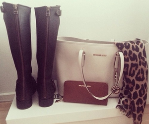 boots, fashion, and scarf image