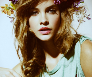 barbara palvin, model, and flowers image