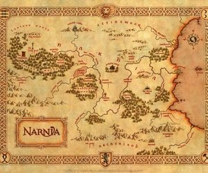 narnia, map, and book image