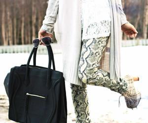 bag, cardigan, and luxury image