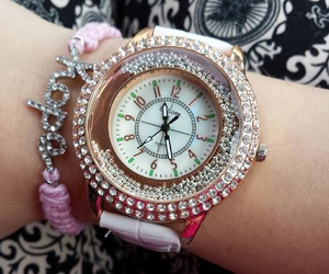 beautiful, bling, and watch image