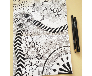 black, draw, and ethnic image