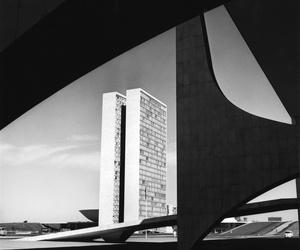 architecture, oscar niemeyer, and brasilia image