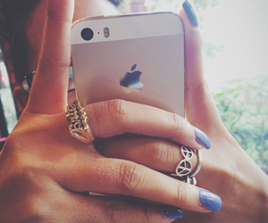 girls, iphone, and nails image