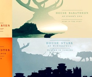 stark, lannister, and game of thrones image