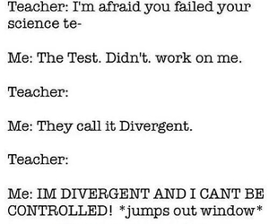 divergent, funny, and test image