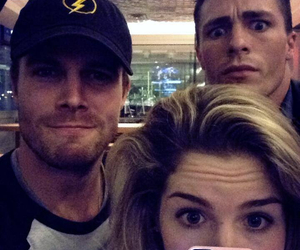 arrow, stephen amell, and colton haynes image