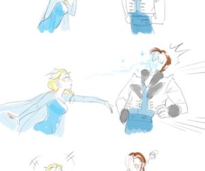 frozen, elsa, and hans image