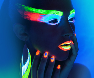 neon, makeup, and nails image